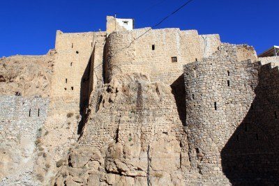 stone-walls-of-mar-musa-monastery-in-syria